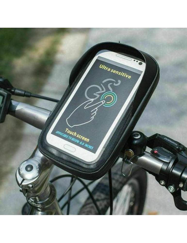 Fahrrad Halterung Handy Smartphone e-Bike Tasche Motorrad Halter Blende 6.4 ''