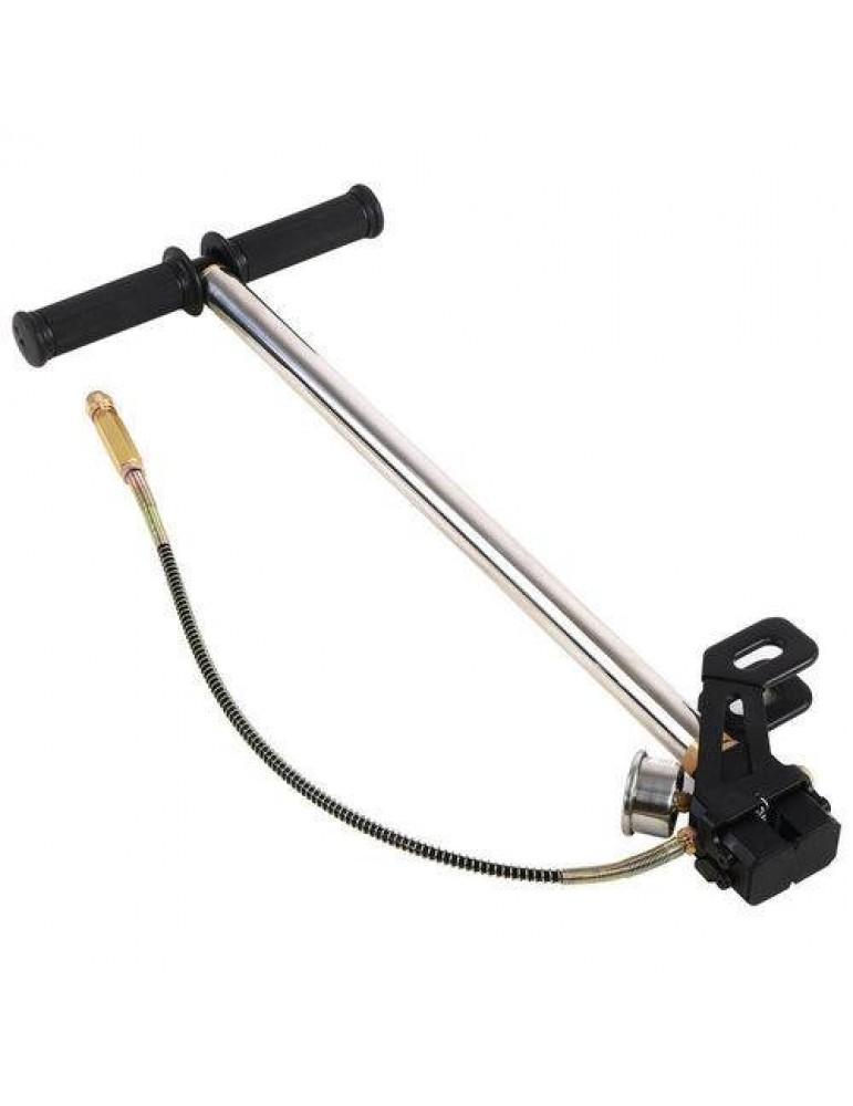3 Stage Stirrup Charger Hand Pump Air Gun Rifle Airrifle Gas Filter Gauge
