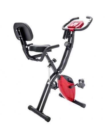 Adjustable Folding Exercise Bike Fitness Upright and Recumbent X-Bike Red