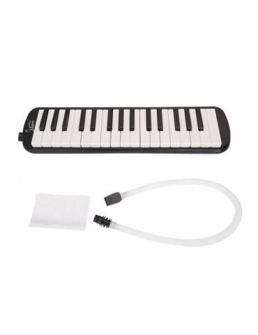 32-Key Melodica with Mouthpiece + Hose + Bag Black