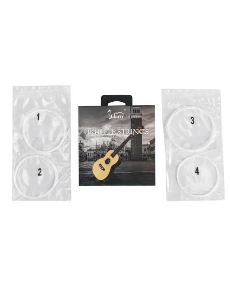 1 / 2 / 3 / 4 Set of 4 Strings White Nylon Replacement Part For Ukulele Guitar